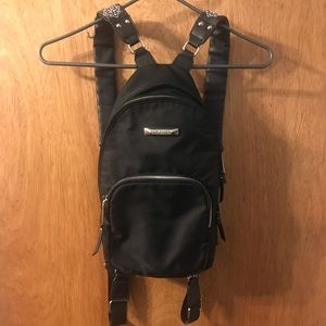 Steve Madden Embroidered Black Backpack